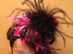 PINK VELVET CAKE - Over the Top Boutique Hair Bow with Matching Headband. $11.99, via Etsy.