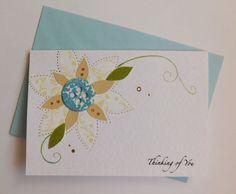 Pretty Thinking of You Patchwork Flower Card by handmadebystrawb