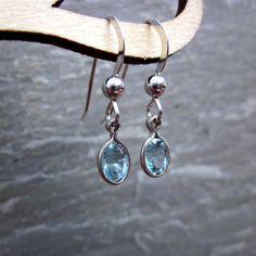 Genuine Aquamarine Earrings by Bihls