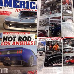 """#BodieStroud Industries Thanks Our Friends at """" #American #MuscleCars Magazine """" for the Feature of #BSindustries , during their trip to the #LosAngeles #RoadsterShow ! Photo: www.BodieStroud.com 2015"""
