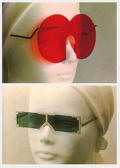 Colored glasses for AOC by Hans Hollein