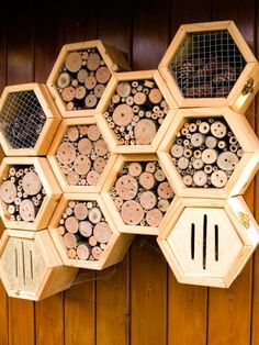 Insektenhotel in Wabenoptik – Modern Design - Modern Bug Hotel, Insect Hotel, Indoor Garden, Outdoor Gardens, Diy Projects For Beginners, Plant Supports, Plant Wall, Craft Stores, Bird Houses