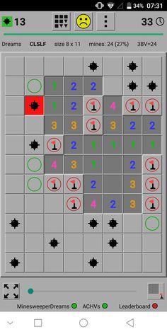 Just long tap mine symbol in left top corner for context menu Game App, Menu, Corner, Dreams, Learning, Games, Top, Menu Board Design, Plays