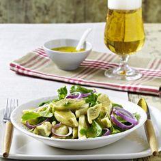 20-Minuten-Maultaschensalat mit süßem Senfdressing Rezept