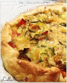 Torta rustica zucchine e peperoni con uovo  - http://blog.giallozafferano.it/lellacook/torta-rustica-zucchine-e-peperoni-con-uovo/