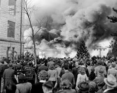 Fire at Kansas State University c. Kansas State University, Kansas City, Manhattan Kansas, History Photos, All Things Purple, How To Memorize Things, The Past, House Divided, In This Moment