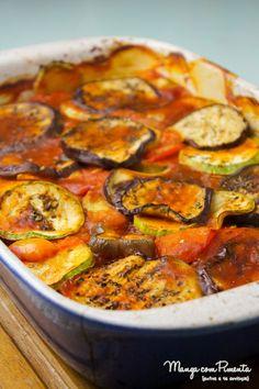 Ratatouille é uma receita francesa perfeita para comemorar: leve e com explosão de sabor!  Clique na imagem para ver o modo de preparo da receita.