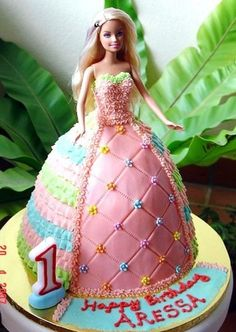 How To Make A Barbie Doll Cake