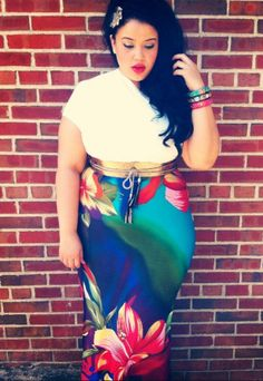 Urban Jungle via Chicissimo. Love the belt, skirt and accessories.