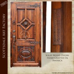 Solid Wood Doors Carved Design