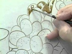 """Linda Wise's translucent grape technique using the """"colored umber mixes"""""""