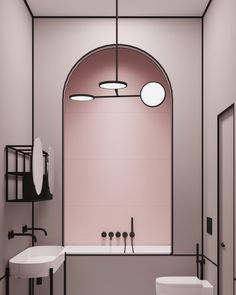 Modern pink bathroom in a Parisian apartment by architect Harry Nuriev from Crosby Studios. - sevde Hut - - Modern pink bathroom in a Parisian apartment by architect Harry Nuriev from Crosby Studios. Bathroom Interior Design, Modern Interior Design, Interior Architecture, Bathroom Designs, Bathroom Ideas, Bathroom Trends, Budget Bathroom, Bath Trends, Interior Design London
