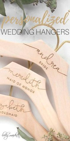 Custom Wedding Hangers