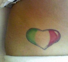 Italian flag heart tattoo This was my first tattoo that I got the week after I turned I wanted something small to start since I didn't know what to expect and I'm really proud to be Italian so thi Italian Tattoos, Tattoo Ideas, Tattoo Designs, Little Tattoos, Blank Canvas, Peircings, First Tattoo, Body Mods, Ink Art