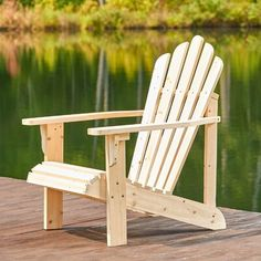 Beachcrest Home Cordelia Solid Wood Adirondack Chair Finish: Natural Rustic Outdoor Furniture, Rustic Chair, Outdoor Chairs, Outdoor Decor, Wooden Furniture, Antique Furniture, Urban Furniture, Small Furniture, Paint Furniture