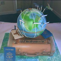 Travel-inspired Globe Cake by Polkadots Cupcake Factory @Rósa Guðjónsdóttir Villas