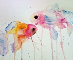 watercolored fishes