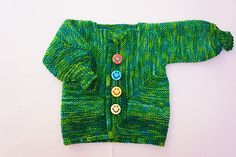 ariane-g's Baby G BSJ  Pattern: Baby Surprise Jacket by Elizabeth Zimmermann  Yarn: Baah Sonoma in Brazilian Emerald