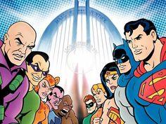 Superfriends vs Legion of Doom Batman Cartoon, Cartoon Art, Marvel Vs, Comic Books Art, Comic Art, Posters Geek, Happy 6th Birthday, Dc Comics Superheroes, Cartoon Tv Shows