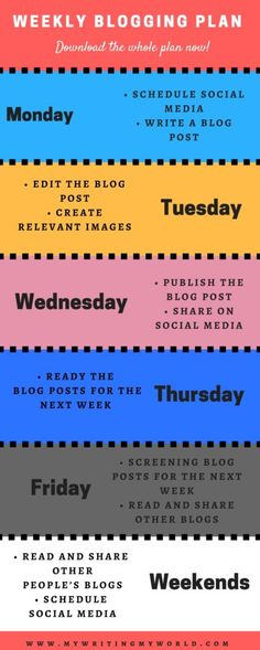 I have put everything in this detailed weekly blogging plan that I follow. This schedule will help you to manage your blogging without having much stress. This blogging plan will also help you to build the relationship with other bloggers if you follow it religiously. Just dedicate one hour a day and this blogging plan will ease all your burdens which come with blogging. If you need some extra tips, do not forget to download it here. Keep Blogging!