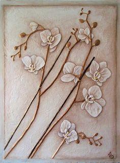 """Барельеф """"Орхидея"""" - Скульптура и лепка - Лепные панно и барельефы"""