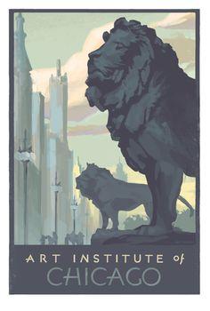 Art Institute of Chicago fine art print, Brad Cornelius 2015