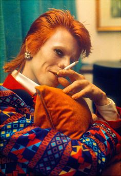 On the road with David Bowie, Mick Rock captures the icon's transformation into Ziggy Stardust Bowie Ziggy Stardust, David Bowie Ziggy, David Bowie Smoking, Lady Stardust, Major Tom, Mick Jagger, Bob Dylan, Beatles, Michel Delpech