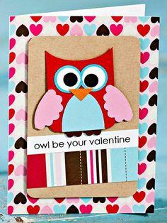 Valentinstag Karte - 3D Effekt und laute Liebe zum Valentinstag