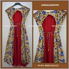 Angalakruthi-Custom designer boutique in Bangalore We. Churidar Designs, Kurta Designs Women, Blouse Designs, Simple Elegant Dresses, Nice Dresses, Kalamkari Dresses, Kalamkari Kurti, Frock Models, Kids Dress Wear