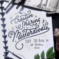 From @misterdoodle on Instagram. #typography #script
