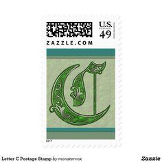 Letter C Postage Stamp #Alphabet #Letter #Art #Postage #Stamp #Envelope #Mail