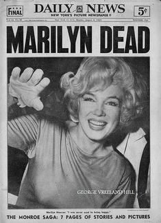 Marilyn Monroe died - Aug 5, 1962; The end of another JFK memory but a legend of her own. Such a beautiful woman. So sad.