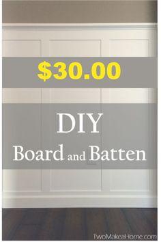 $30 DIY Board And Batten Foyer