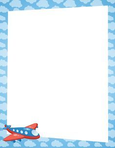 Airplane page border. Free downloads at http://pageborders.org/download/airplane-border/
