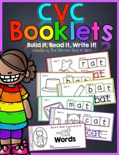 CVC Booklets are a FUN and interactive way to help students build, read and write simple CVC words! This packet works with 23 of the most common CVC word families. The booklets are easy to assemble and come with a set of letter tiles to build specific word families. This hands-on packet will help make learning to read FUN!