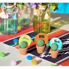 Marque place cactus mexicain Laura Lee, Buffet, Nespresso, Table Decorations, Mini Cactus, Tables, Collection, Products, Towel Paper