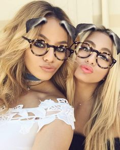 Dinah-Jane and Ally on Snapchat