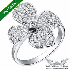 Find More Rings Information about Promotion White Gold Jewelery Silver Ring Women Engagement Jewelry CZ Simulated Diamonds Fashion Rings Lady Micro Pave Flower,High Quality diamond shape ring,China diamond sellers Suppliers, Cheap rings for men silver from Ulovestore Jewelry on Aliexpress.com