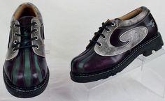 John Fluevog Angel Derby Swirl Oxfords Shoes Multi-Color  UK 5 W 7 M 6 Used #JohnFluevog #oxfords