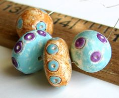 Handmade Polymer Clay Beads  Carnival by BeadsByEarthTones on Etsy, $8.50