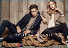 Models Francisco Lachowski and Gigi Hadid come together for Tommy Hilfiger's fall-winter 2016 campaign.