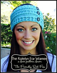 Beautiful #free #crochet ear warmer #pattern. I love the post stitches on this one!