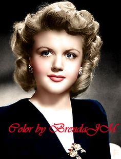 Angela Lansbury (Color by BrendaJM) Hollywood Actor, Golden Age Of Hollywood, Vintage Hollywood, Hollywood Glamour, Classic Hollywood, Angela Lansbury, Old Movie Stars, Actrices Hollywood, Star Pictures