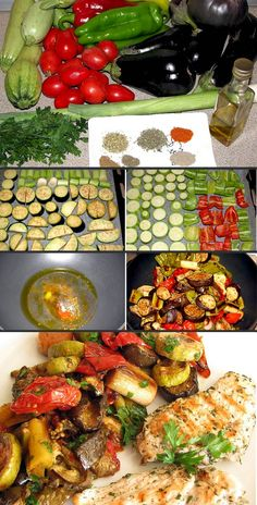 Yum Love All These Veggies!! Baked-vegetables
