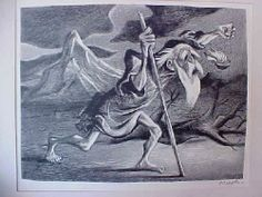icollect247.com Online Vintage Antiques and Collectables - Diogenes By Wm Gropper - Pencil Signed Lithograph Paper