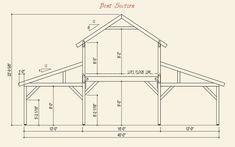 Dream Acreage Pre-designed Barn Bent Section Barn Homes Floor Plans, Building A Pole Barn, Pole Barn House Plans, Barn Garage, Pole Barn Homes, House Floor Plans, Barn House Kits, Barn House Design, Pole Barn Designs