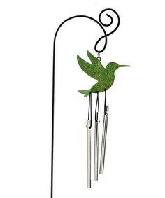 Another great find on #zulily! Hummingbird Mini-Chime Pot Stake #zulilyfinds