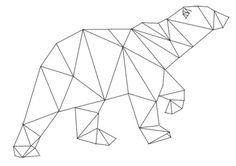 A polygonal bear that I've made. Possibly tattoing it on my back or left arm :)