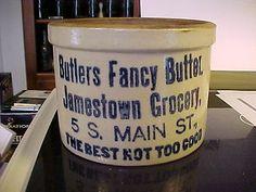 CROCK / BUTLERS FANCY BUTTER, JAMESTOWN GROCERY, 5 S. MAIN ST., NY / NEW YORK