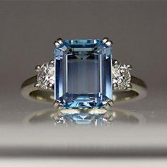 Aquamarine and diamond <3